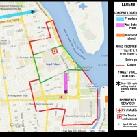 Water Festival Route and Event Map