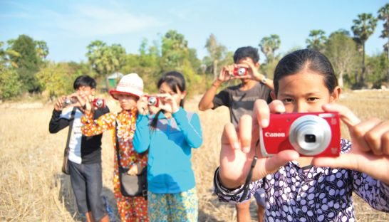 The 'water art' project gave children cameras to create their own art about water.